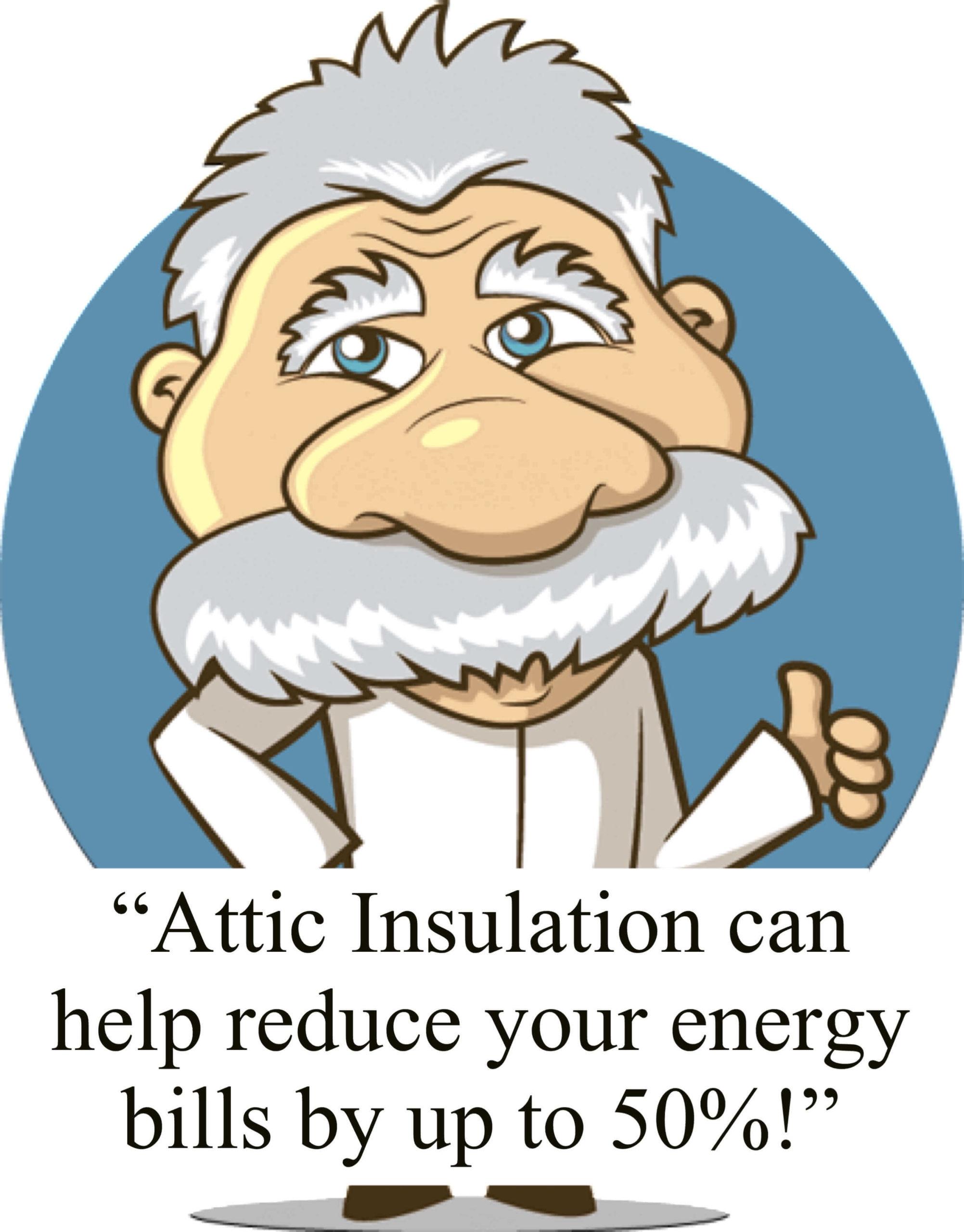 Einstein quote on attic insulation