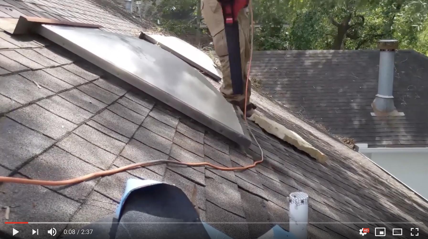 Matlock Roofing & Construction Skylight install video